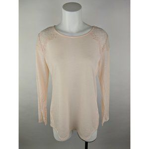 Apt. 9 L Polyester Rayon Sheer Floral Blouse Top